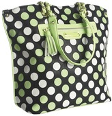 Betsey Johnson Dottie Dots Tote (Lime) - Bags and Luggage