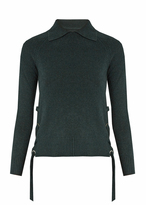 Frame Side-tie cashmere sweater