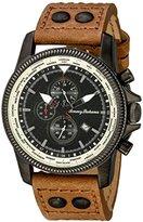 Tommy Bahama Men's 10018323 Paradise Pilot Analog Japanese Quartz Brown Leather Watch