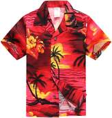Palm Wave Boy Hawaiian Aloha Luau Shirt and Shorts 2 Piece Cabana Set in 2 Year Old