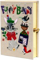 Olympia Le-Tan Funny Bunny Embroidered Book Clutch