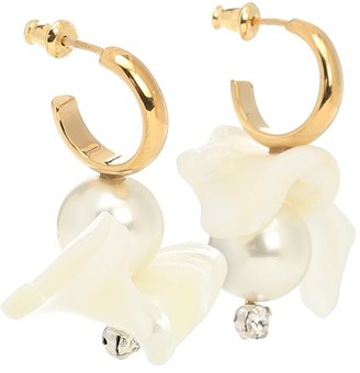 Simone Rocha Mother-of-pearl hoop earrings