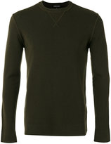 Emporio Armani crew-neck jumper - men - Spandex/Elastane/Virgin Wool - S