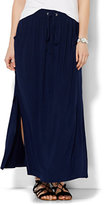 New York & Co. Lounge - Double-Slit Maxi Skirt - Solid