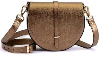 Atelier Hiva Mini Arcus Leather Bag Metallic Brown