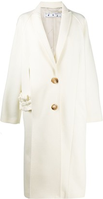 Off-White Cut-Out Overcoat