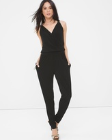 White House Black Market Surplice Tapered Jumpsuit