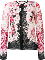 Roberto Cavalli lace fitted jacket - women - Cotton/Viscose - 40
