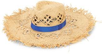 Rag & Bone Frayed Wide-Brim Raffia Hat