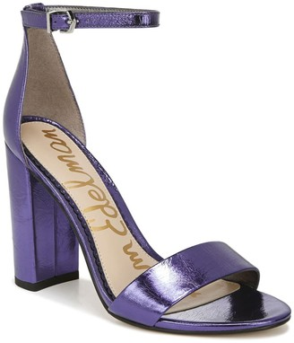 Sam Edelman Yaro Metallic Leather Block Heel Sandal