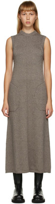 Peter Do SSENSE Exclusive Brown Knit Sleeveless Dress