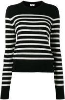 Saint Laurent Black striped jumper - women - Cashmere - XS