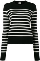 Saint Laurent striped jumper - women - Cashmere - XS