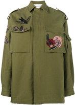 Valentino embroidered parka jacket - women - Silk/Cotton/Linen/Flax/Metallic Fibre - 44