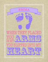 Paint Can Designs Emma Burlap Heart Personalized Canvas