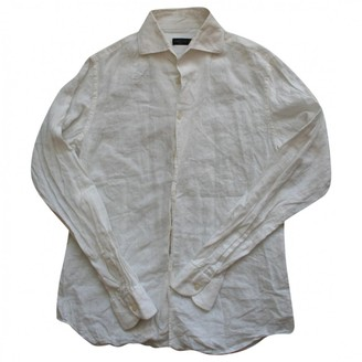 Corneliani White Linen Top for Women