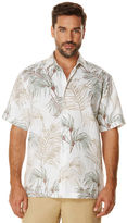 Cubavera Big & Tall 100% Linen Short Sleeve Allover Print Shirt