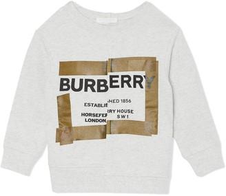 BURBERRY KIDS Horseferry Print Cotton Sweatshirt