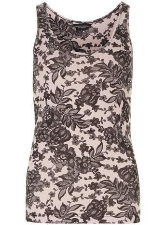 Dorothy Perkins Rose lace print vest top