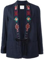Forte Forte embroidered blazer - women - Cotton/Linen/Flax - II