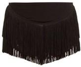 Norma Kamali Fringed High-rise Shorts - Womens - Black