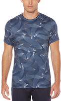 Perry Ellis Active Slim Printed Short Sleeve Crew Knit Shirt