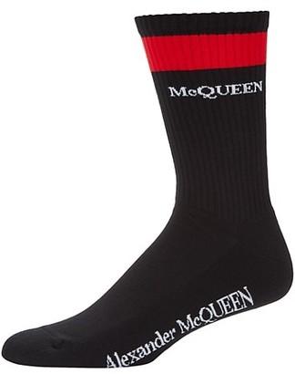Alexander McQueen Logo Stripe Socks