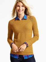 Talbots Basket-Weave & Pebble-Stitched Sweater