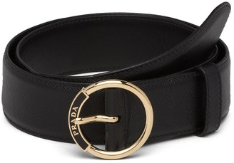 Prada Embossed Logo Belt