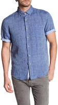 Report Collection Short Sleeve Enzyme Wash Linen Shirt