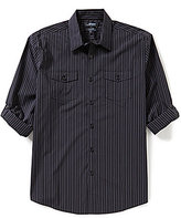 Murano Wardrobe Essentials Rolled-Sleeve Striped Sportshirt