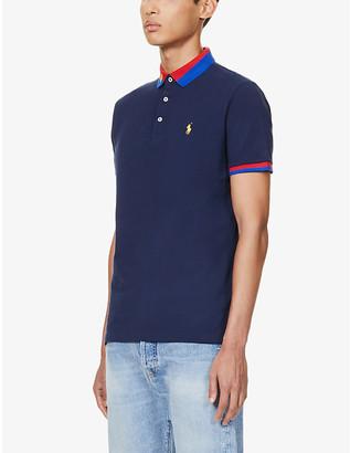 Polo Ralph Lauren Contrast-trim cotton-pique polo shirt