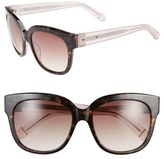 Bobbi Brown Women's 'The Taylor' 55Mm Sunglasses - Tortoise/ Crystal
