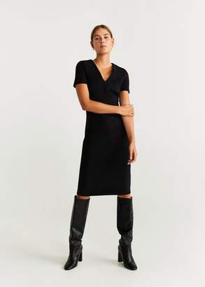 MANGO Seam-detail shift dress
