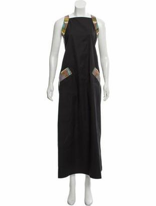 Bottega Veneta 2018 Snakeskin-Trimmed Midi Dress
