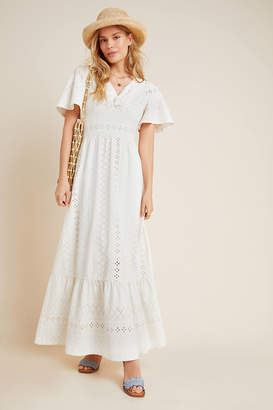 Maeve Rochelle Eyelet Maxi Dress