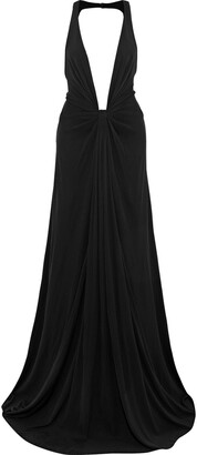 Zac Posen Open-back Stretch-crepe Gown