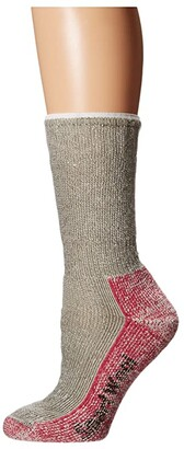 Smartwool Mountaineering Extra Heavy Crew (Taupe/Bright Pink) Women's Crew Cut Socks Shoes