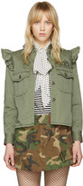 Marc Jacobs Green Shoulder Ruffle Jacket