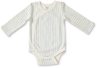 Stripes Away Surplice Bodysuit
