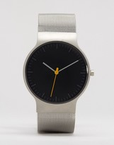 Braun Classic Mesh Watch In Silver & Black Dial
