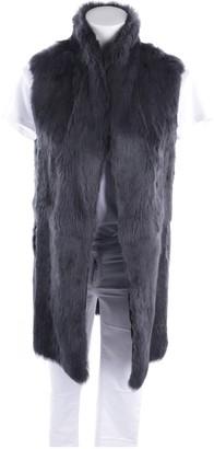 Steffen Schraut Grey Fur Top for Women