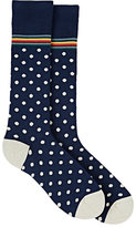 Paul Smith Men's Polka Dot Cotton-Blend Mid-Calf Socks