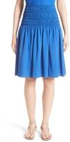 Akris Punto Women's Akris Smocked Ruffle Skirt
