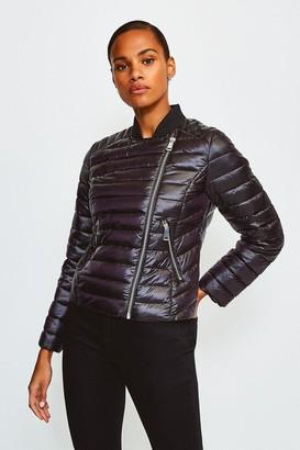 Karen Millen Padded Quilted Zip Detail Jacket