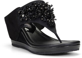 Donald J Pliner Malone Crystal & Sequin Embellished Wedge Slide Sandal