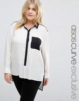 Asos Mono Color Block Shirt