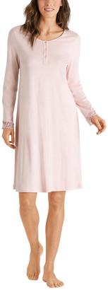 Hanro Flora Long Sleeve Nightgown