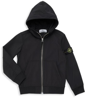 Stone Island Little Boy's & Boy's Resin Zipper-Front Hooded Jacket