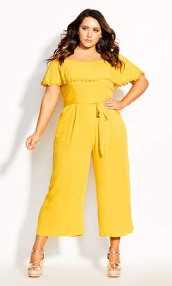 City Chic Pool Side Jumpsuit - gold